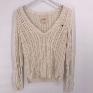 Hollister V-Neck Knitted Pullover Woman's Small